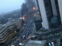 Helicopter crash  London